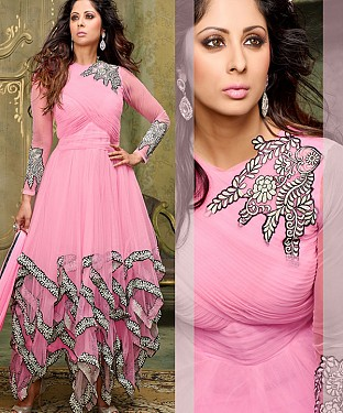 NEW ARRIVAL PINK ANARKALI SUIT @ Rs2100.00