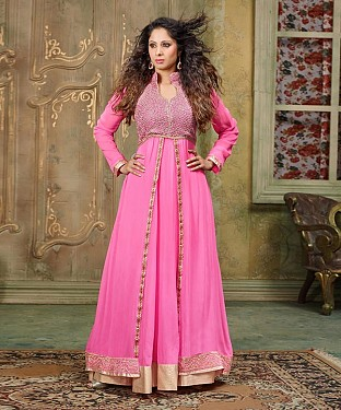 NEW ARRIVAL PINK ANARKALI SUIT@ Rs.2100.00