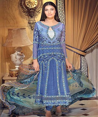 NEW ARRIVAL BLUE STRAIGHT SUIT @ Rs1977.00