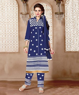 NEW ARRIVAL BLUE STRAIGHT SUIT @ Rs926.00