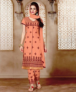 NEW ARRIVAL PINK STRAIGHT SUIT@ Rs.926.00