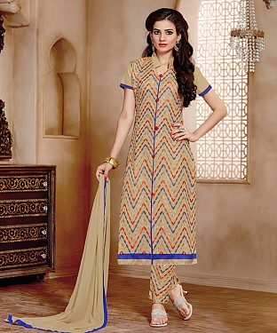 NEW ARRIVAL CREAM STRAIGHT SUIT @ Rs926.00