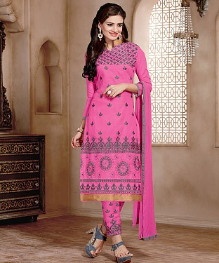 NEW ARRIVAL PINK STRAIGHT SUIT @ Rs926.00