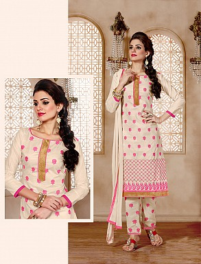 NEW ARRIVAL OFF WHITE STRAIGHT SUIT@ Rs.926.00