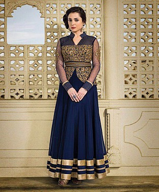 NEW ARRIVAL NAVY BLUE ANARKALI SUIT @ Rs1606.00