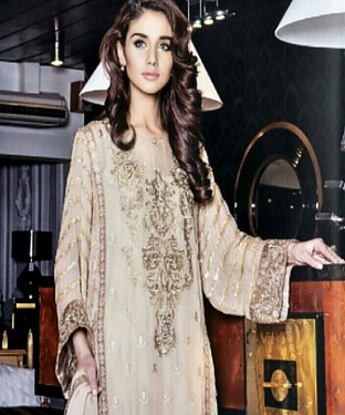 DESIGNER BEIGE STRAIGHT SUIT @ Rs1915.00