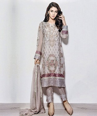 DESIGNER GREY STRAIGHT SUIT@ Rs.1915.00