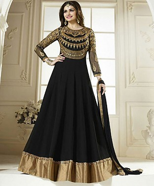 NEW ARRIVAL BLACK ANARKALI SUIT @ Rs1297.00