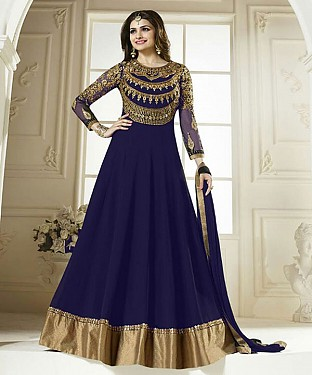 NEW ARRIVAL NAVY BLUE ANARKALI SUIT@ Rs.1297.00