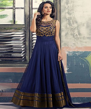 Hottest Desiner Royal Blue  Anarkali Suit@ Rs.3213.00