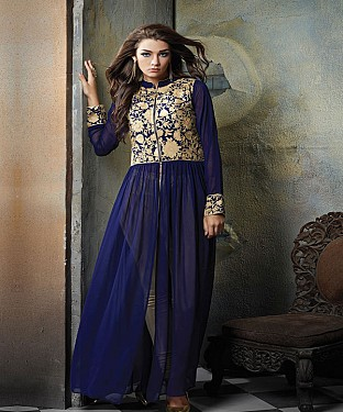 New Bollywood Style Royal Blue Anarkali Suit @ Rs2286.00