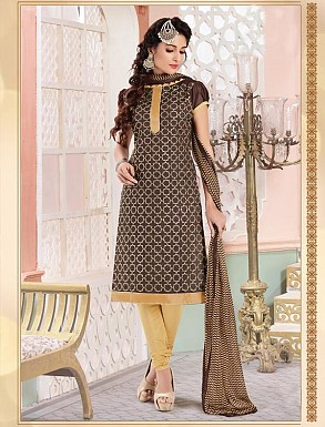 Heavy Grey Cotton Salwar Kameez @ Rs926.00