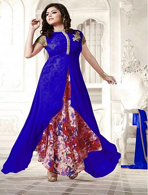 New Attractive Blue Anarkali Suit @ Rs1791.00