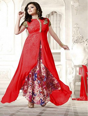 New Attractive Red Anarkali Suit @ Rs1791.00