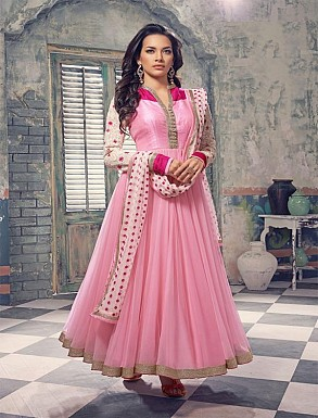 DESIGNER PINK ANARKALI SUIT @ Rs1421.00
