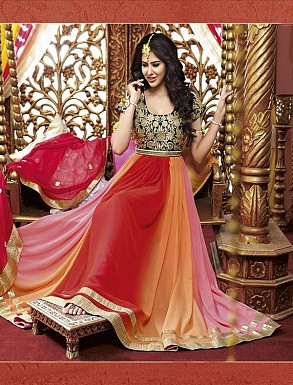 New Attractive Multy Anarkali Suit @ Rs3027.00