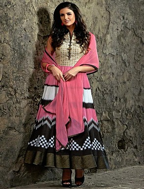 New Attractive Pink Anarkali Suit @ Rs2595.00