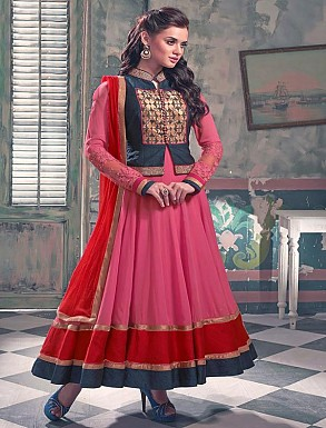 New Attractive Pink Anarkali Suit @ Rs3027.00