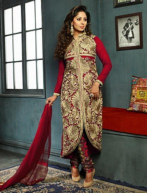 New Attractive Red Straight Suit @ Rs3027.00