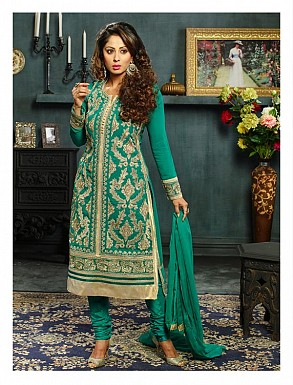 New Attractive Green Straight Suit @ Rs3027.00