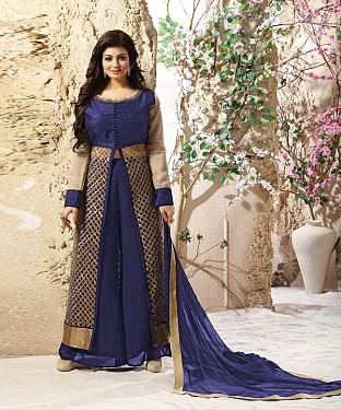 DESIGNER NAVY BLUE ANARKALI SUIT @ Rs2039.00