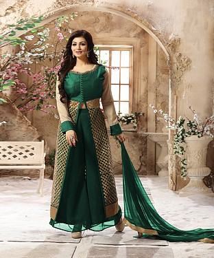 DESIGNER GREEN ANARKALI SUIT @ Rs2039.00