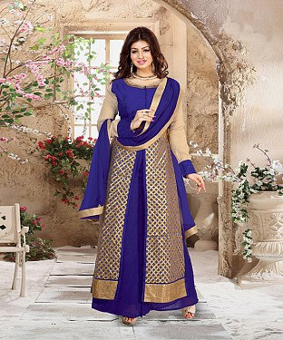 DESIGNER BLUE ANARKALI SUIT @ Rs2039.00