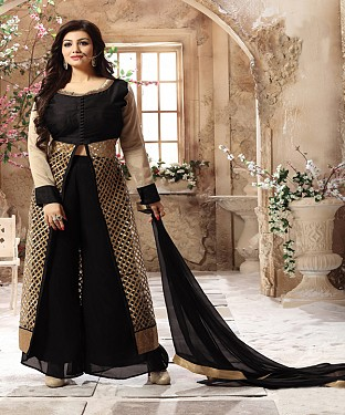 DESIGNER BLACK ANARKALI SUIT @ Rs2039.00
