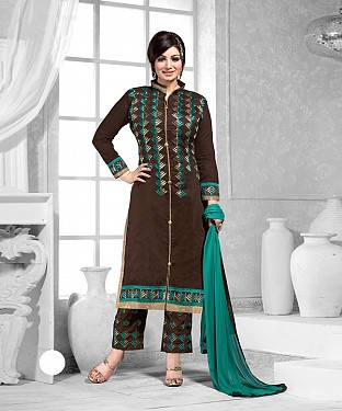 New Attractive Brown Straight Suit @ Rs1173.00