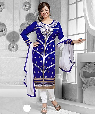 New Attractive White Straight Suit @ Rs1173.00