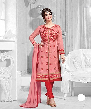 New Attractive Peach Straight Suit @ Rs1173.00