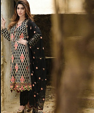 New Attractive Black Straight Suit @ Rs2039.00