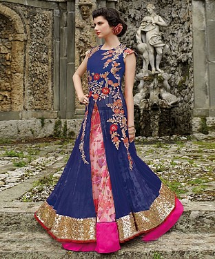 New Attractive Blue Anarkali Suit @ Rs3460.00