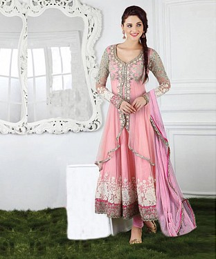 New Attractive Pink Anarkali Suit @ Rs1791.00