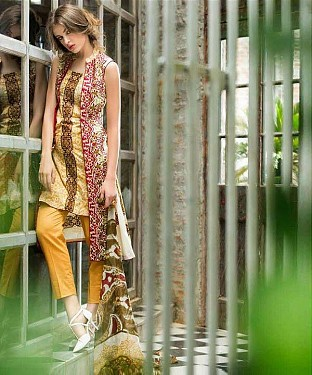 Designer Yellow Straight Suit @ Rs1235.00