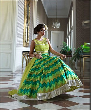 Parrot DIGITAL PRINT BHAGAL PURI DIGITAL PRINT ANARKALI SUIT @ Rs4634.00