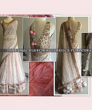 Light Pink Bridal Designer Lehenga@ Rs.2533.00