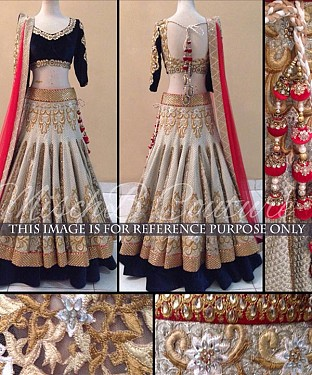 Off White Bridal Designer Lehenga@ Rs.2471.00