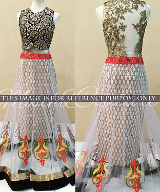White Bridal Designer Lehenga @ Rs1977.00