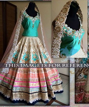 Multy Colour Bridal Designer Lehenga @ Rs3398.00