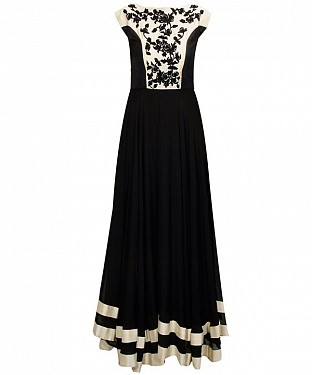 BLACK MULTYWORK GEORGETTE LEHENGA @ Rs1791.00