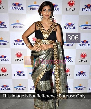 BLACK AND GREY MULTY WORK NET BOLLYWOOD DESIGNER SAREE @ Rs1606.00