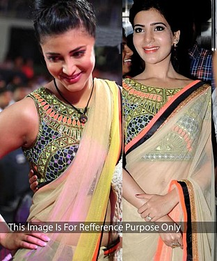 MULTY NET MULTY WORK BOLLYWOOD DESIGNER SAREE @ Rs1421.00
