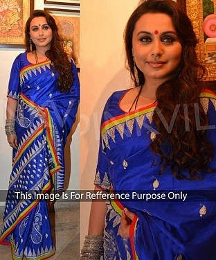 BLUE MULTY WORK SILK GEORGETTE BOLLYWOOD DESIGNER SAREE @ Rs2471.00