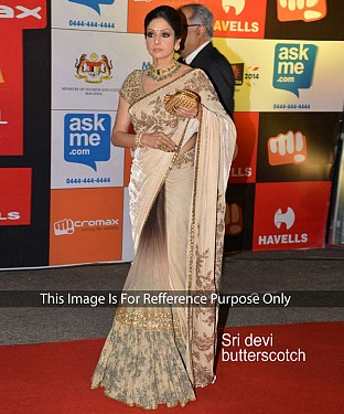 OFF WHITE MULTY WORK VELVET AND GEORGETTE BOLLYWOOD DESIGNER SAREE @ Rs2657.00
