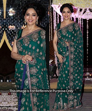GREEN MULTY WORK NET BOLLYWOOD DESIGNER SAREE @ Rs2780.00