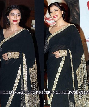 BLACK MULTY WORK GEORGETTE BOLLYWOOD DESIGNER SAREE @ Rs1730.00
