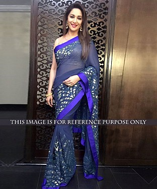BLUE MULTY WORK GEORGETTE BOLLYWOOD DESIGNER SAREE @ Rs1791.00