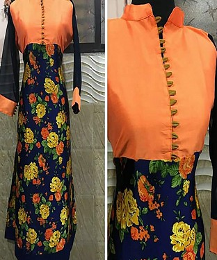 ORANGE DESIGNER FREE SIZE KURTI @ Rs864.00