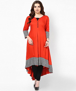 RED DESIGNER STITCHED KURTI @ Rs741.00